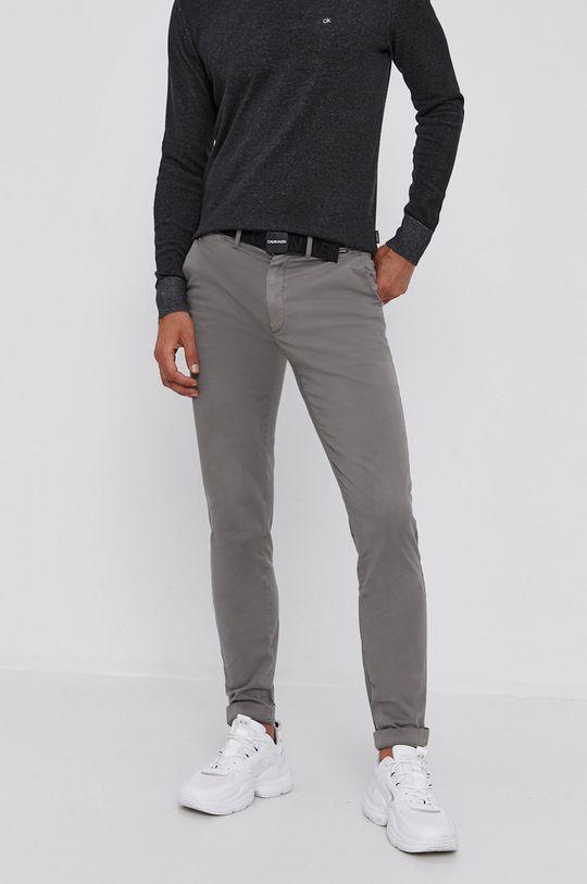 světle šedá Calvin Klein - Kalhoty Pánský