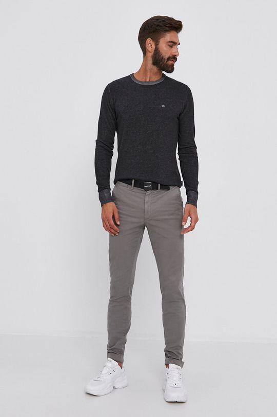 Calvin Klein - Kalhoty světle šedá