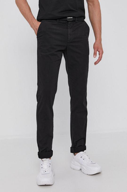 czarny Calvin Klein - Spodnie Męski