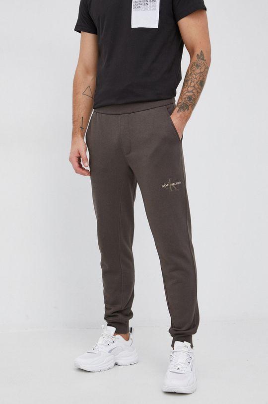 brudny zielony Calvin Klein Jeans - Spodnie Męski