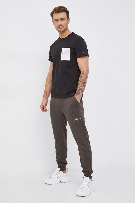 Calvin Klein Jeans - Spodnie brudny zielony