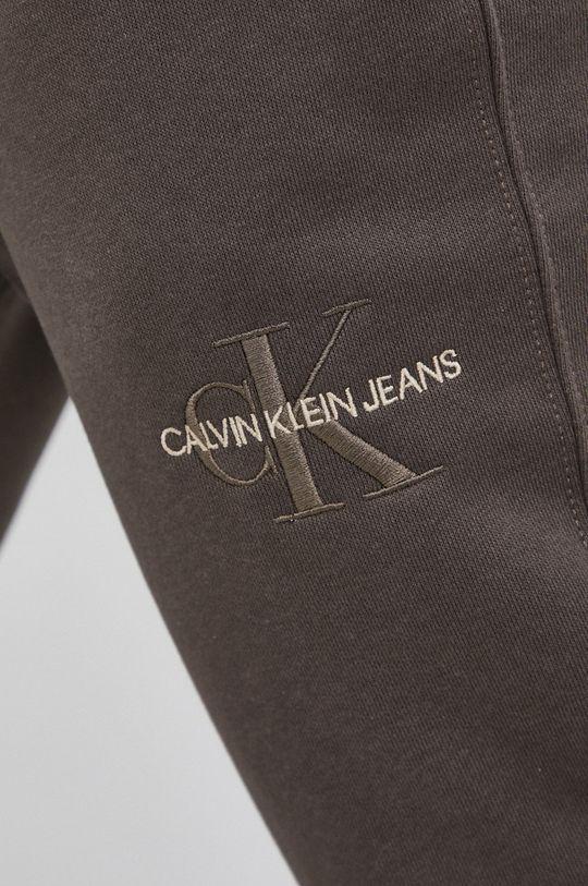 brudny zielony Calvin Klein Jeans - Spodnie