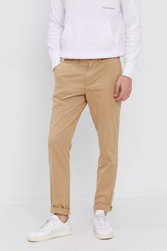 béžová Calvin Klein Jeans - Nohavice Pánsky