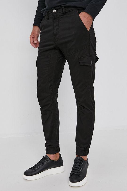 czarny Guess - Spodnie Męski