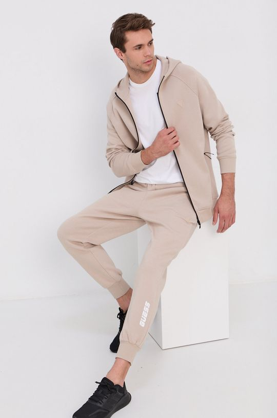 beżowy Guess - Spodnie Męski