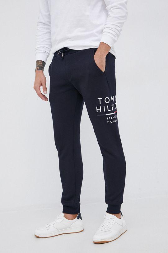 granatowy Tommy Hilfiger - Spodnie Męski