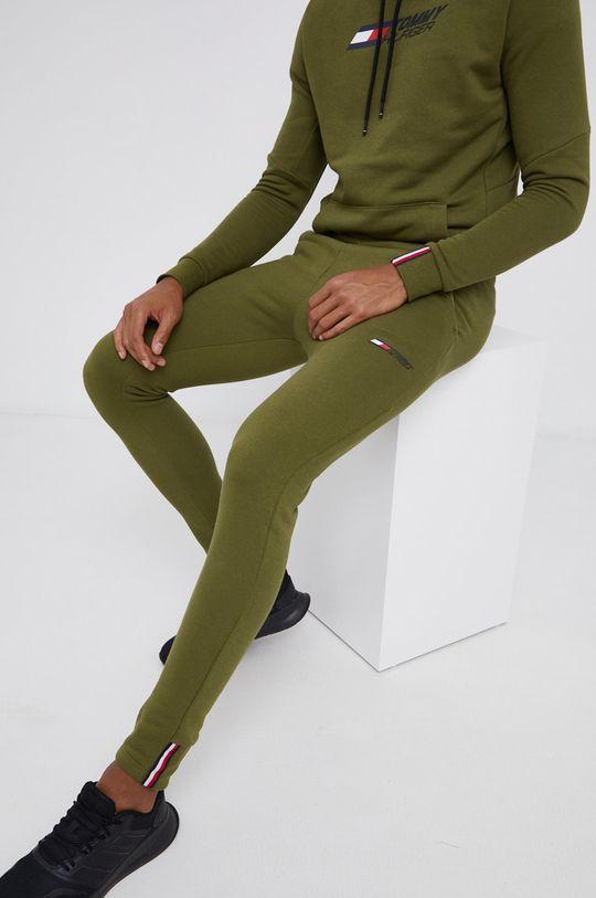 zielony Tommy Hilfiger - Spodnie Męski