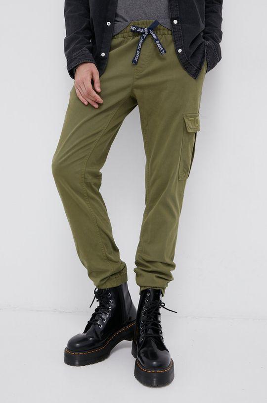 jasny oliwkowy Tommy Jeans - Spodnie Męski