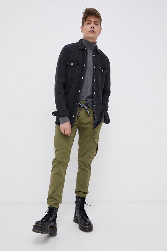 Tommy Jeans - Spodnie jasny oliwkowy