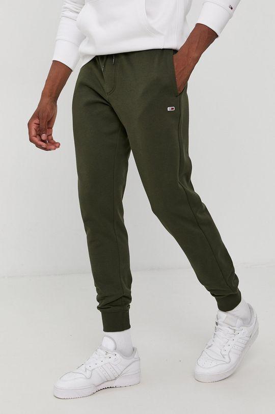 olivová Tommy Jeans - Kalhoty Pánský