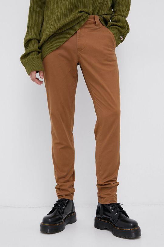 Tommy Jeans - Spodnie brązowy