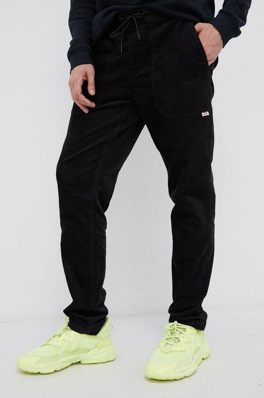 czarny Tommy Jeans - Spodnie sztruksowe Męski