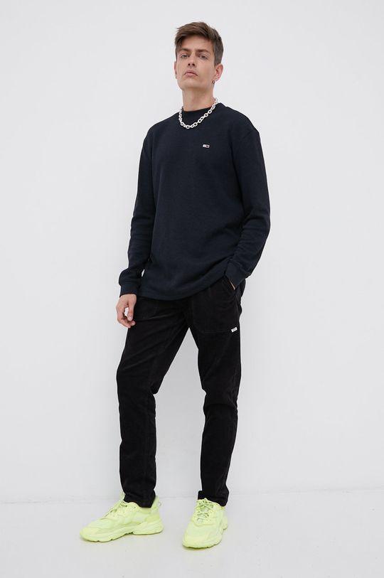 Tommy Jeans - Spodnie sztruksowe czarny