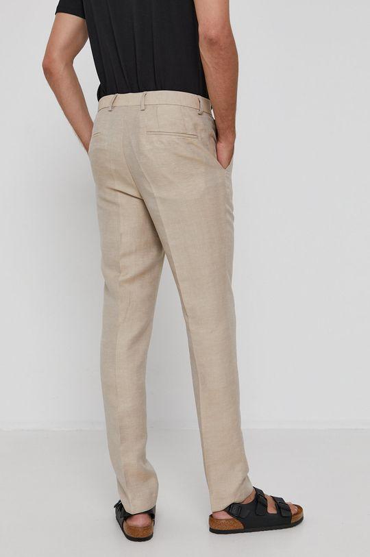 Hugo - Kalhoty  Podšívka: 100% Viskóza Hlavní materiál: 54% Len, 32% Polyester, 14% Viskóza