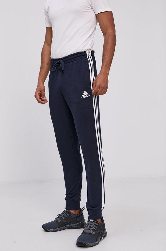 granatowy adidas - Spodnie Męski