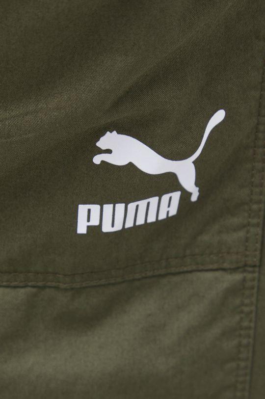 brązowa zieleń Puma - Spodnie