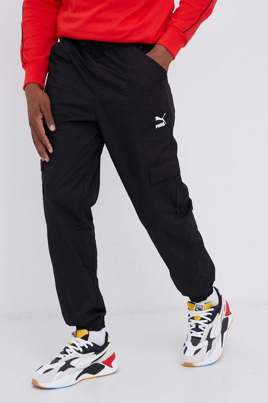 czarny Puma - Spodnie Męski
