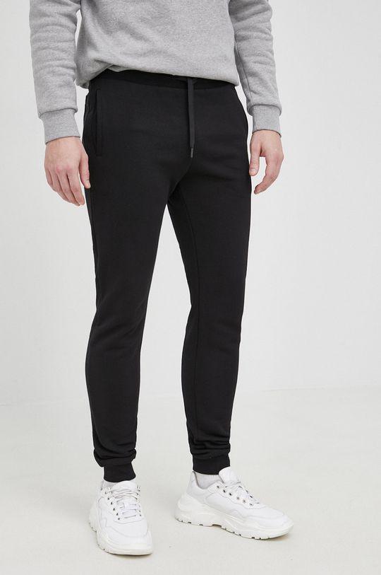 czarny Trussardi - Spodnie Męski