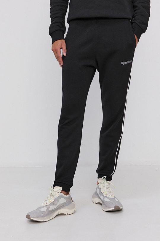 černá Reebok - Kalhoty Pánský