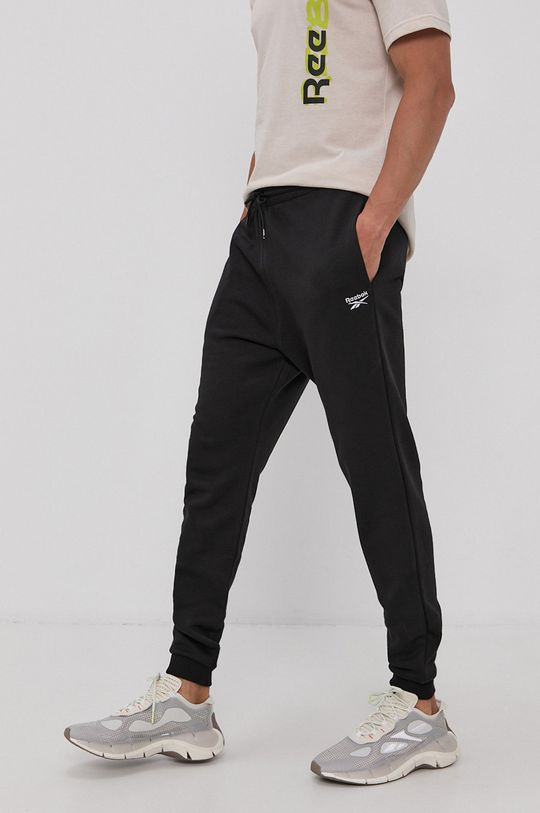 czarny Reebok - Spodnie Męski