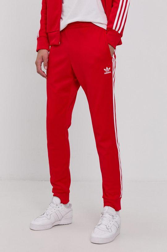 czerwony adidas Originals - Spodnie Męski