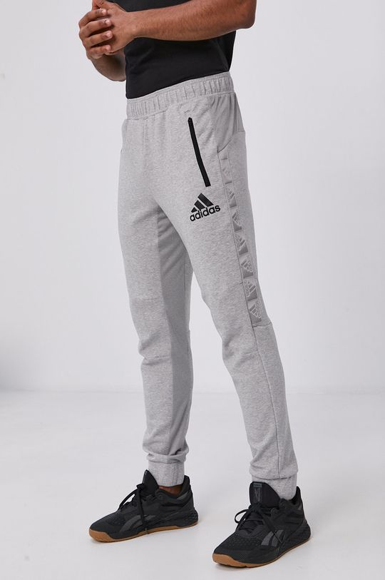 szary adidas - Spodnie Męski