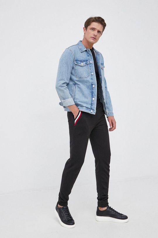 czarny Tommy Hilfiger - Spodnie Męski