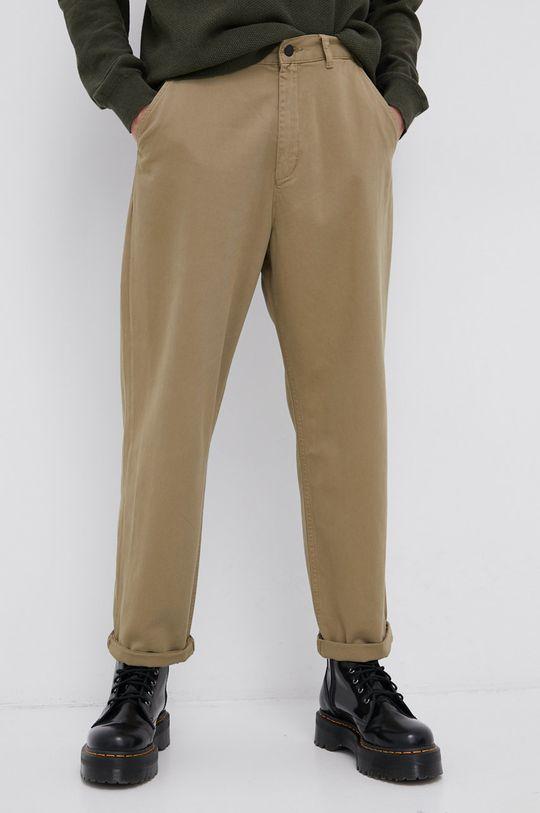 oliwkowy Dr. Denim - Spodnie bawełniane Męski
