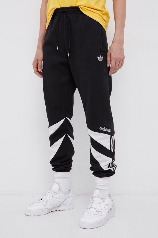 czarny adidas Originals - Spodnie Męski