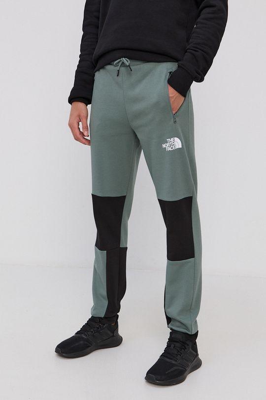 brudny zielony The North Face - Spodnie Męski