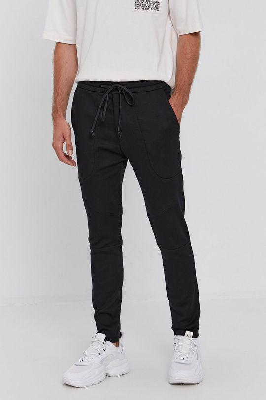 czarny Drykorn - Spodnie Kab Męski