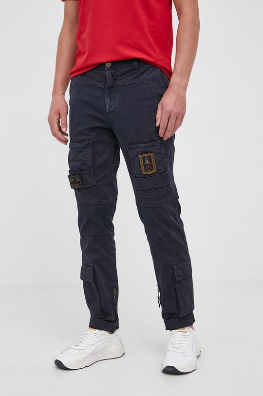granatowy Aeronautica Militare - Spodnie Męski