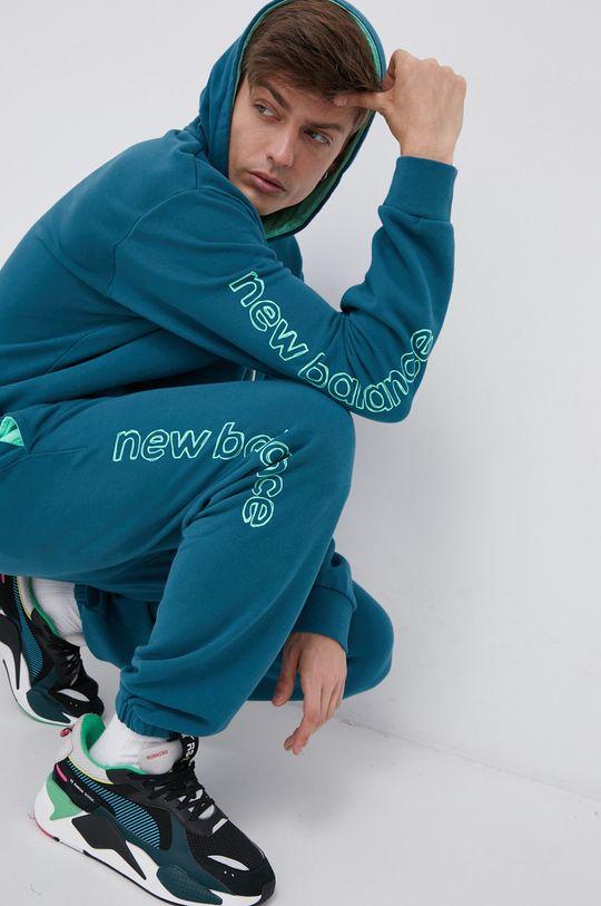 stalowy niebieski New Balance - Spodnie