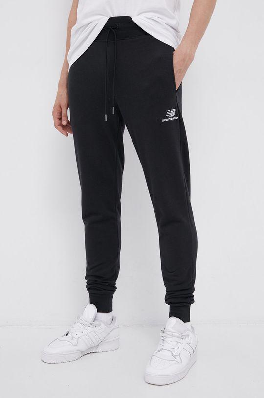 czarny New Balance - Spodnie Męski