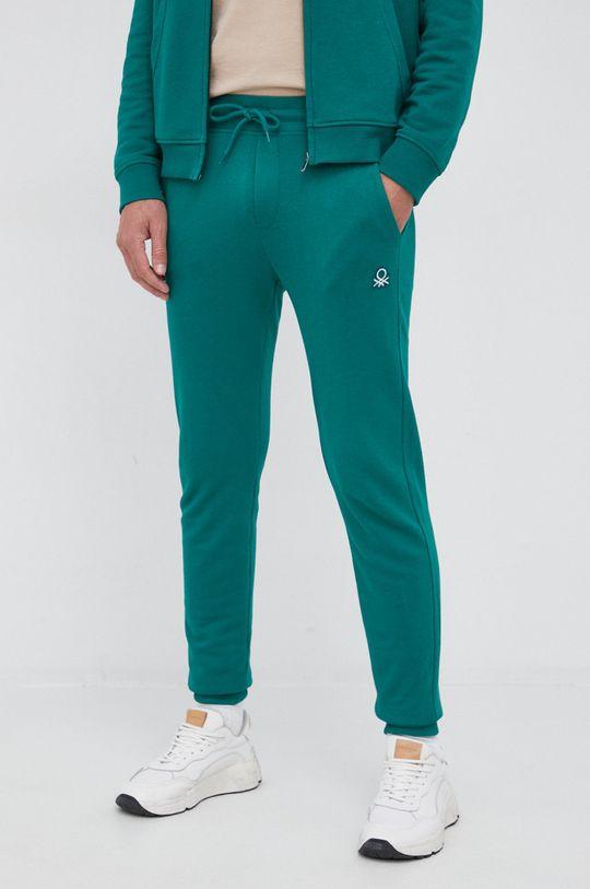 zielony United Colors of Benetton - Spodnie Męski