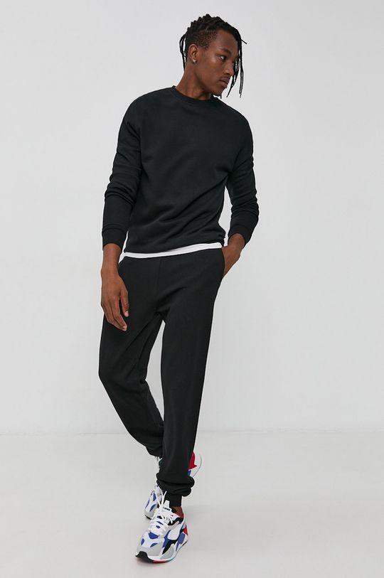 czarny Resteröds - Spodnie Męski