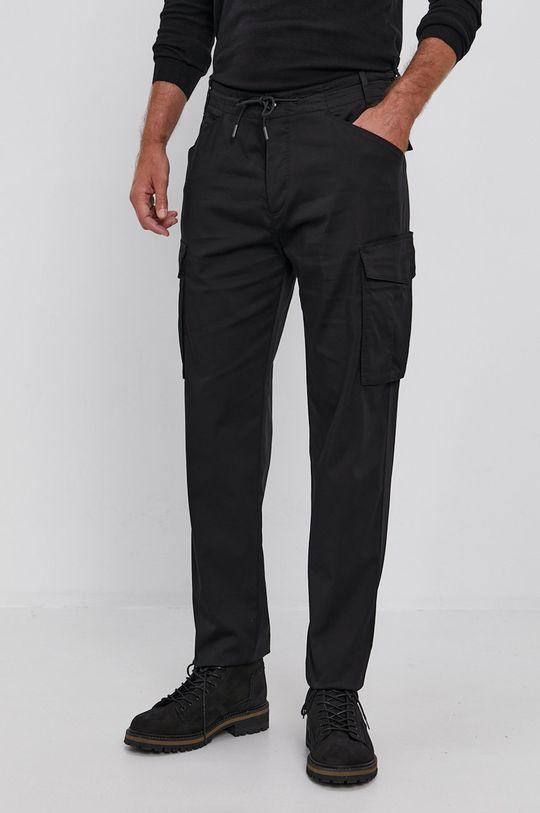 czarny Sisley - Spodnie Męski
