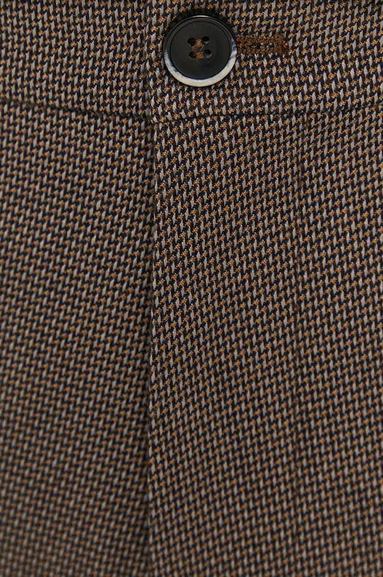 brązowy Sisley - Spodnie
