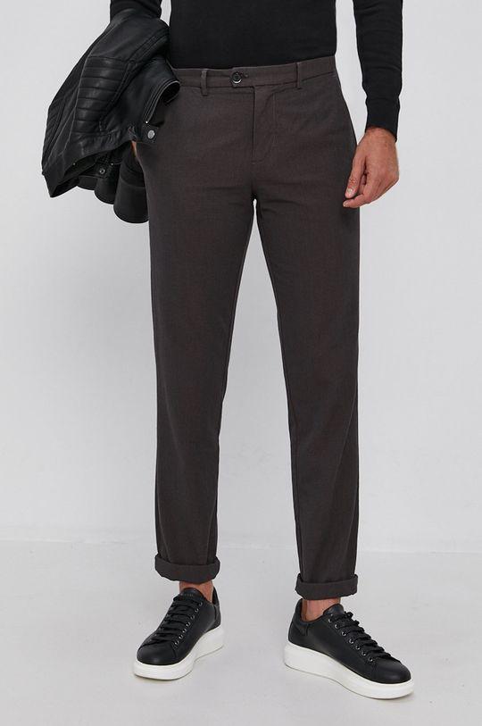 brązowy Sisley - Spodnie Męski