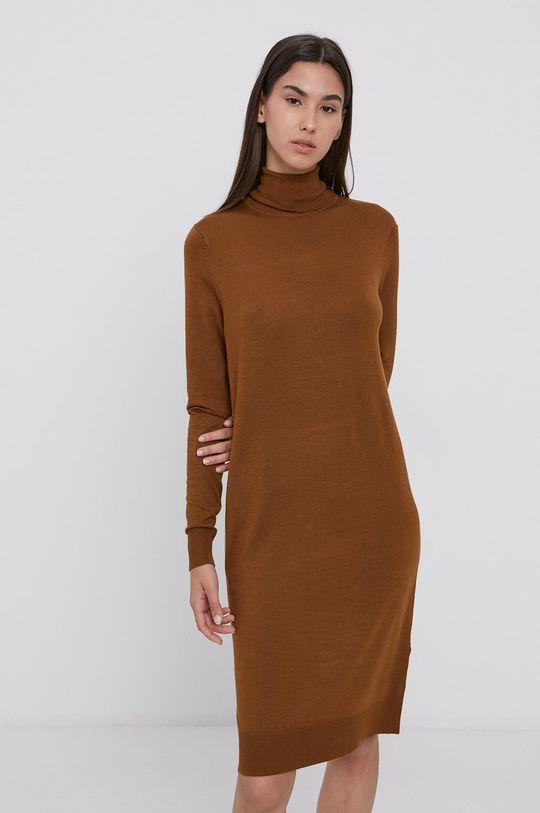Vila - Sukienka brązowy