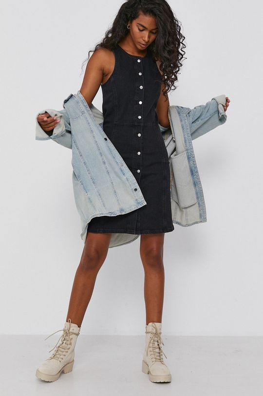 Calvin Klein Jeans - Sukienka jeansowa czarny