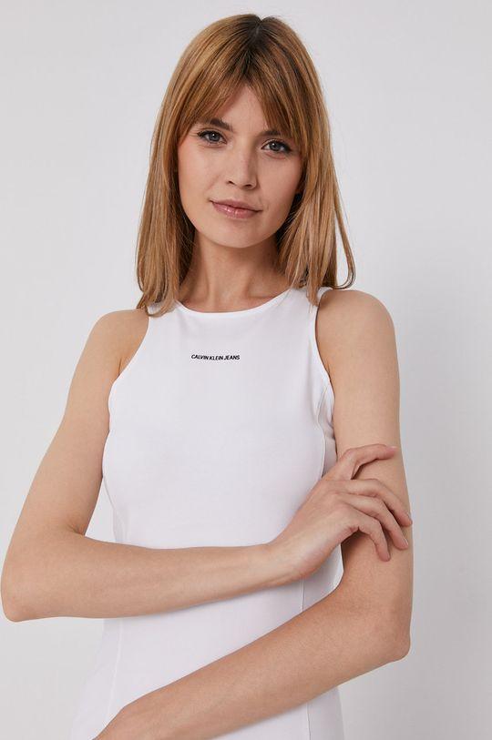 biela Calvin Klein Jeans - Šaty