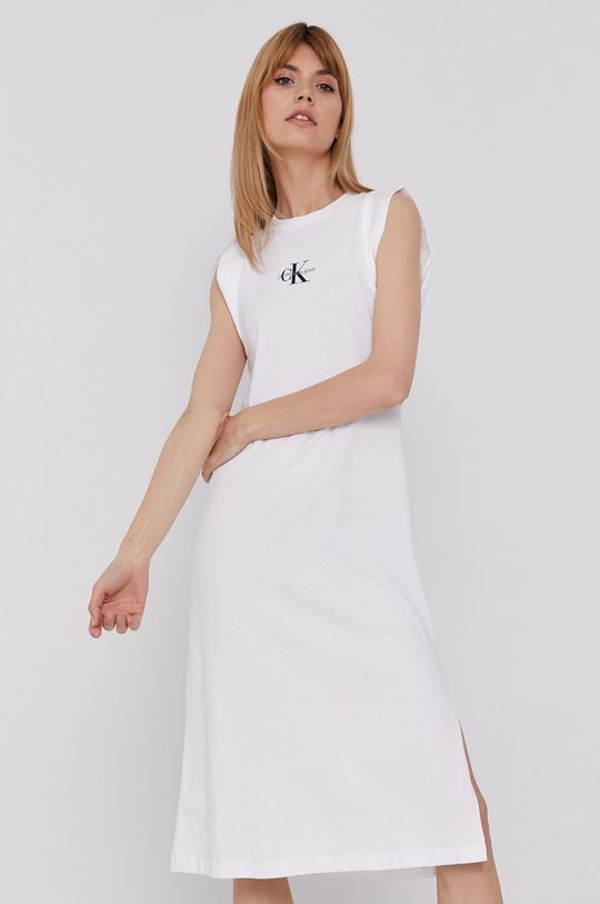 biela Calvin Klein Jeans - Šaty Dámsky