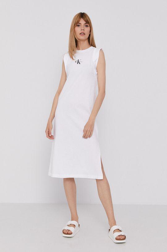 Calvin Klein Jeans - Šaty biela