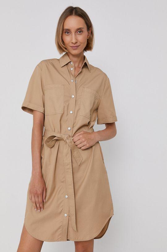 beżowy Calvin Klein Jeans - Sukienka Damski