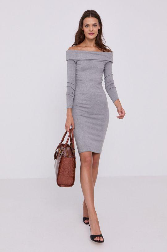 Guess - Šaty světle šedá