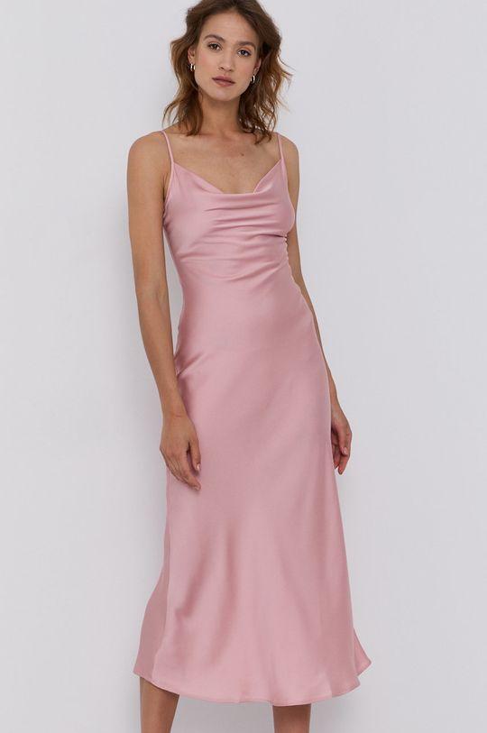 Guess - Sukienka ostry różowy