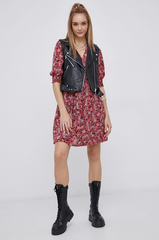 Vero Moda - Šaty ostrá červená
