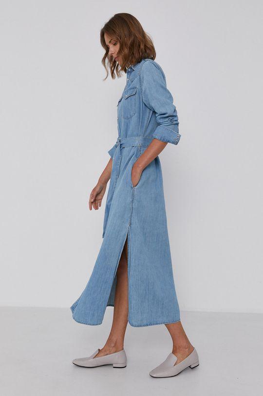 Polo Ralph Lauren - Sukienka jeansowa 61 % Bawełna, 39 % Len
