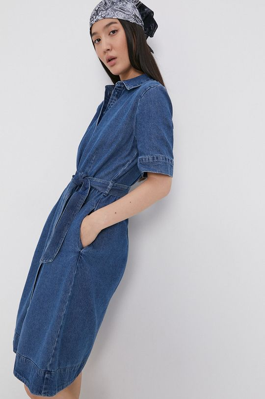 Jacqueline de Yong - Sukienka jeansowa niebieski